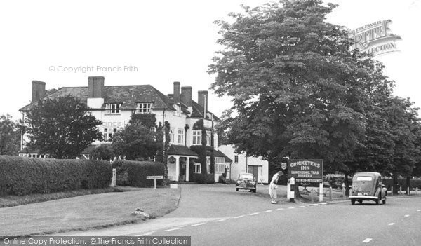 Photo of Bagshot, the Cricketers c1955