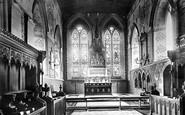 Bakewell, Al Saints Church, Choir East 1890
