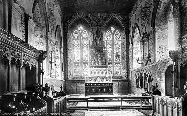 Bakewell, All Saints Church, Choir East 1890