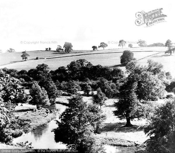 Bakewell, Dorothy Vernon's Bridge, Haddon Hall c.1955