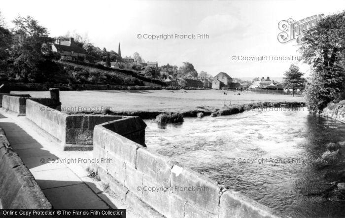 Bakewell, Packhorse Bridge Over River Wye c.1955