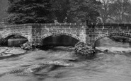 Bakewell, People On Old Pack Horse Bridge 1923