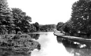 Bakewell, River Side Walk And River Wye c.1955