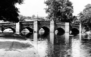 Bakewell, The Bridge And River Wye c.1955