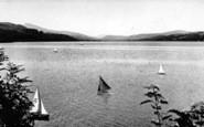 Bala, The Lake Showing Cader Idris 1955