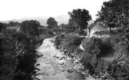 Bala, view from Llanywchllyn Bridge 1888