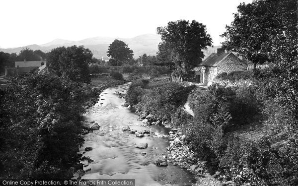 Photo of Bala, view from Llanywchllyn Bridge 1888
