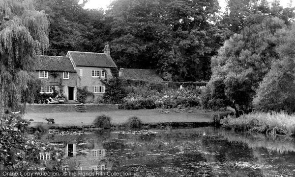 Balcombe, Lower Lake And Lawn c.1955