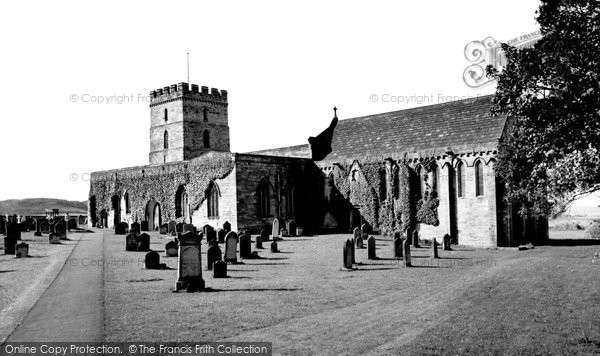 Photo of Bamburgh, Parish Church of St Aidan 1954
