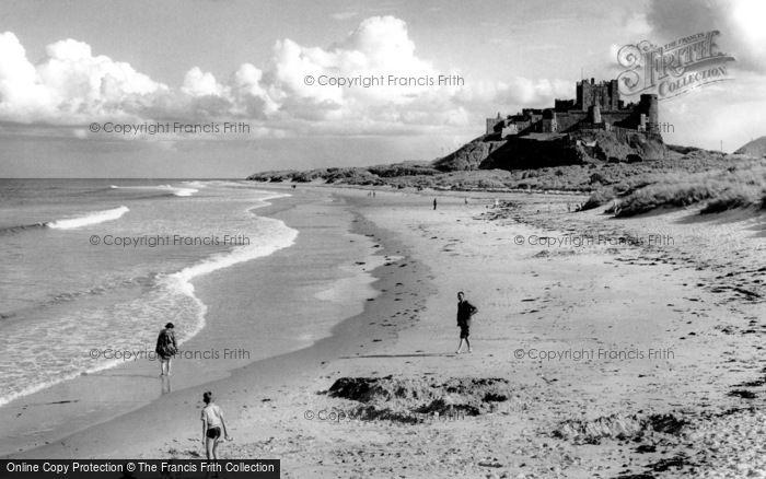 Bamburgh, The Castle And Beach 1954