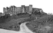 Bamburgh, The Castle From The Slopes c.1935