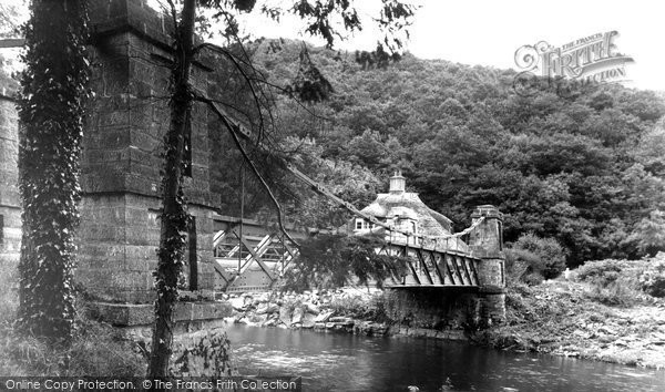 Bampton, Chain Bridge, Exe Valley c.1950