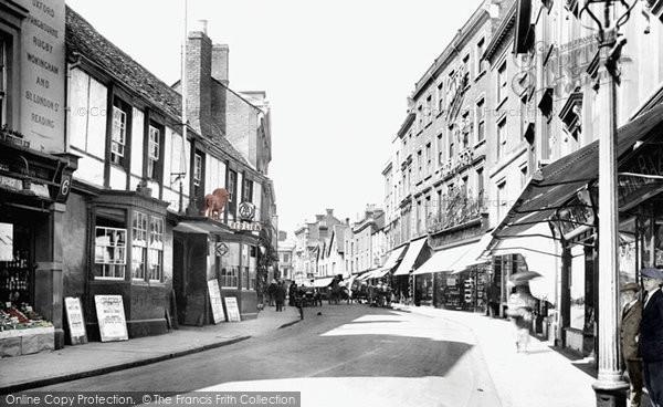 Banbury, High Street 1921