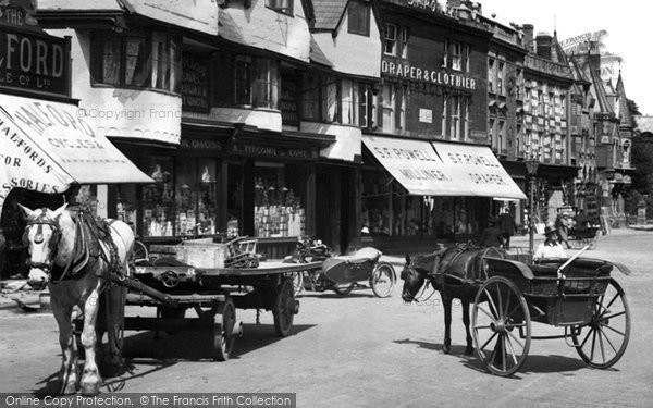 Banbury, Horse And Carts, Market Place 1921