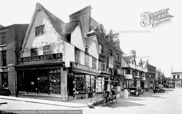 Banbury, Old Houses, Market Place 1922