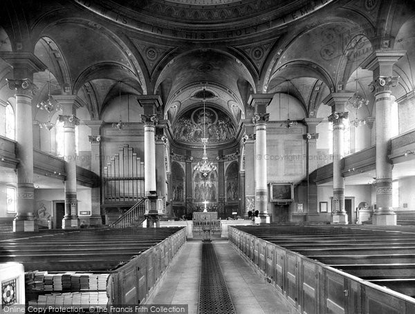 Banbury, St Mary's Church, Interior 1921