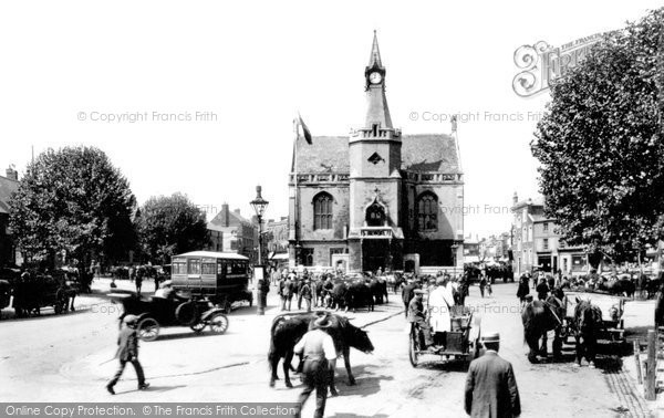 Banbury, Town Hall And  Market 1922