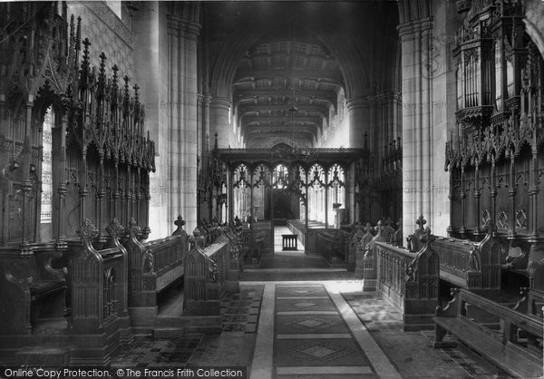 Bangor, Cathedral, Choir West 1911