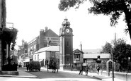 Bangor, High Street And Clock 1908