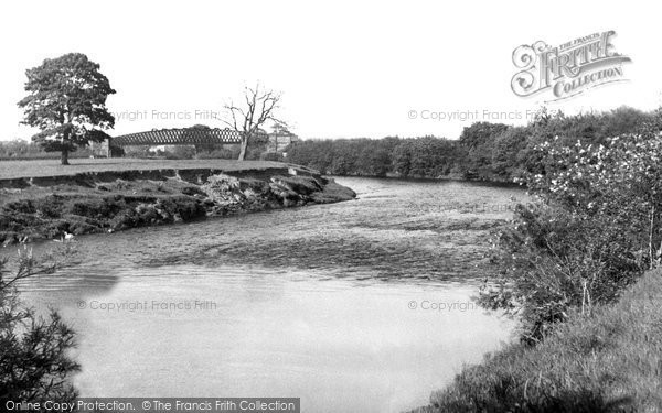 Bangor Is Coed, Old Iron Bridge c.1955