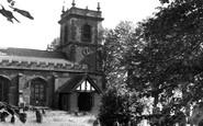 Bangor-Is-Coed, St Dunawd's Church c.1955