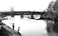 Bangor-Is-Coed, The River Dee And The Bridge c.1955