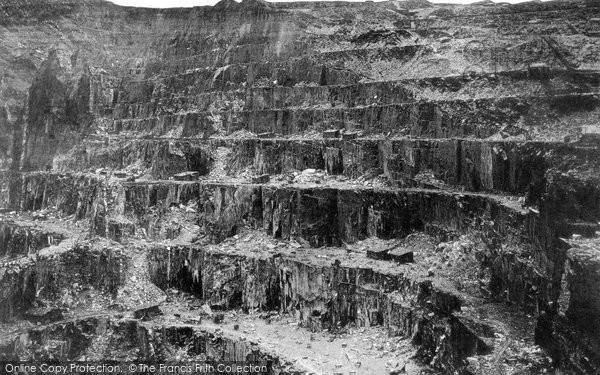 Bangor, Penrhyn Slate Quarries c.1870