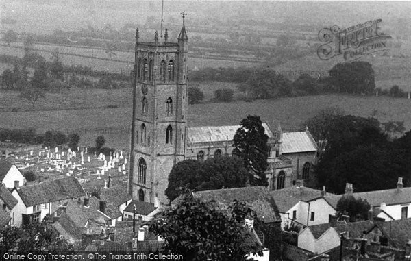 Banwell, Church Of St Andrew With The Village c.1955