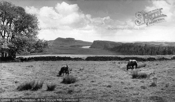 Bardon Mill, The Roman Wall At Winshields Crag And Crag Lough c.1960