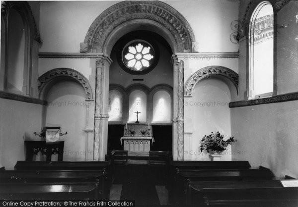 Barfrestone, Church Interior c.1960