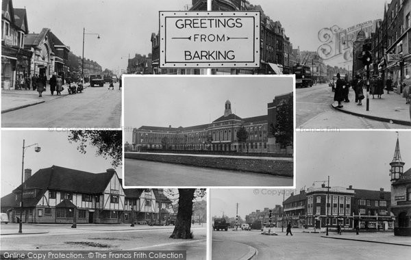 Barking, Composite c.1955