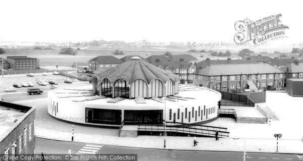 Photo of Barkingside, the Library and Swimming Pool c1965