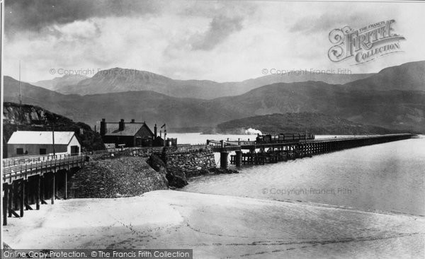 Barmouth, Bridge And Cader 1896