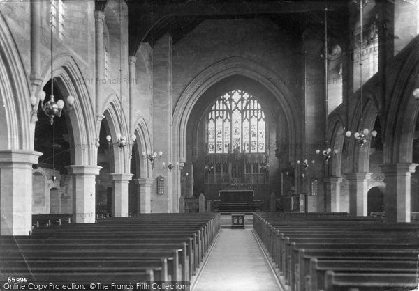 Barmouth, Church Interior 1913