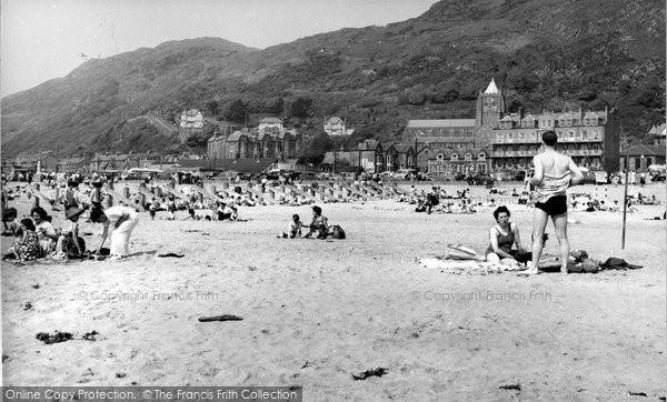 Barmouth, The Beach c.1960