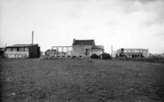 Barmston, The Beach Cafe And Swings c.1955