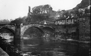Barnard Castle, Bridge And Castle c.1930