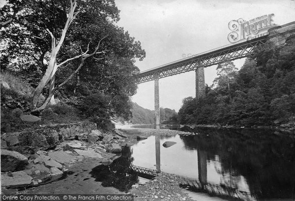 Barnard Castle, River Tees And Viaduct 1914