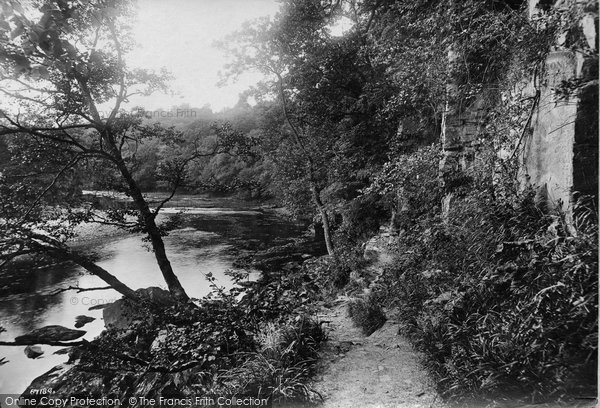 Barnard Castle, River Tees, Rock Walk 1914