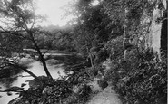 Barnard Castle, River Tees, Rock Walk 1914