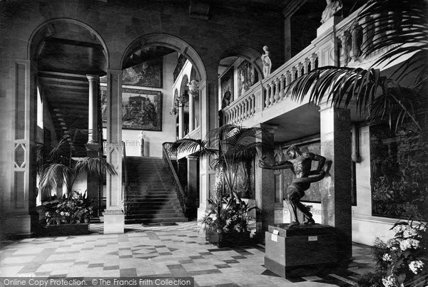Barnard Castle, The Bowes Museum, Entrance Hall 1914