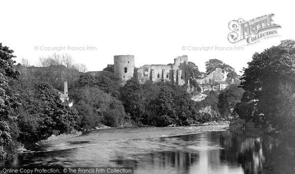 Barnard Castle, The Castle And The River Tees 1898