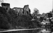 Barnard Castle, The Castle From The River Tees c.1930