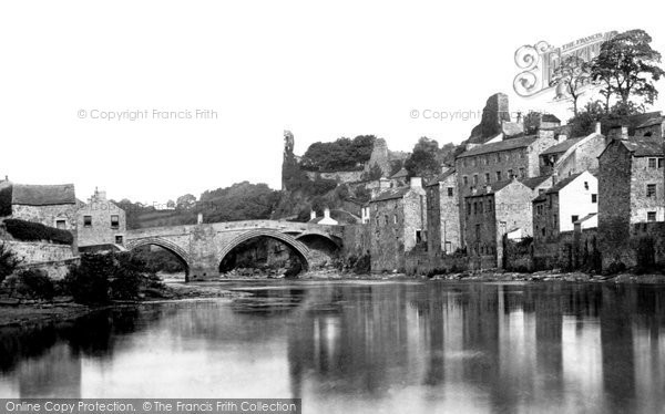 Barnard Castle, The River Tees And Bridge 1890