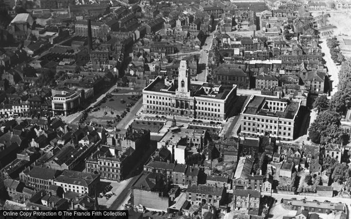 Barnsley, Aerial View c.1966