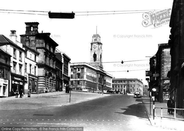 Barnsley, Market Hill 1949