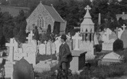 Barnstaple, A Man In The Cemetery 1890