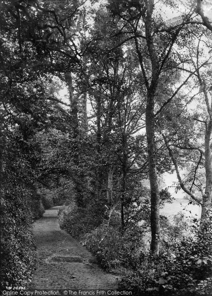 Barnstaple, Anchor Wood, Lovers Walk 1890