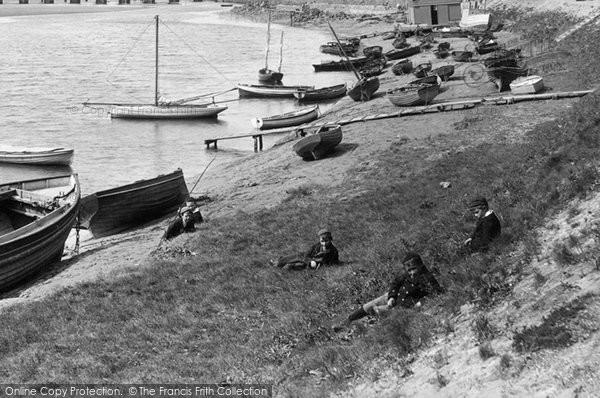 Barnstaple, Boys On The Riverbank 1894