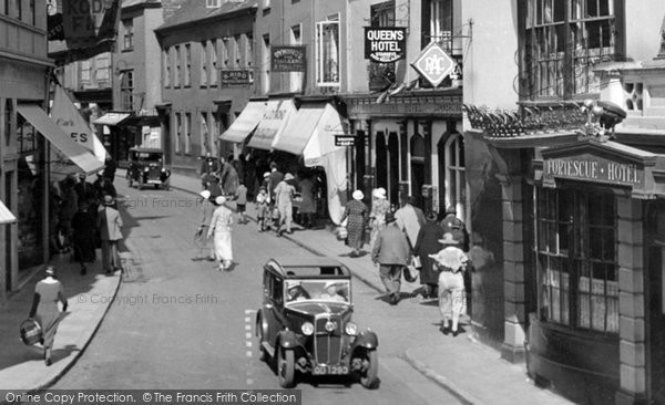 Barnstaple, Car In Boutport Street 1935